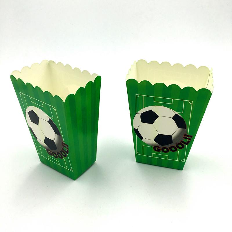 NEW FOOTBALL POPCORN BOXES KIDS BIRTHDAY PARTY FAVORS BABY SHOWERFOOTBALL CANDY CASE FOOTBALL DESIGN POPCORN BOXES
