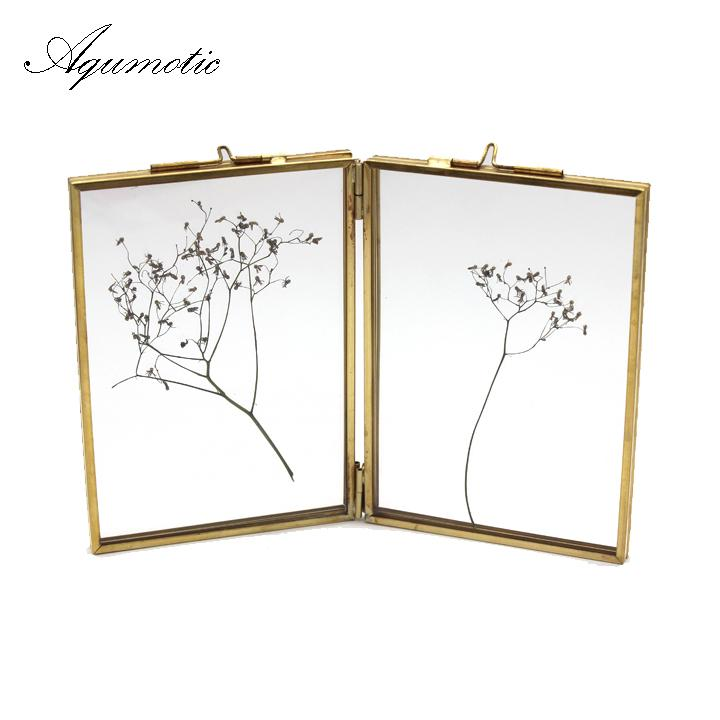 2019 Aqumotic Black Both Sides Picture Frames Gold Key Chain Square ... 7bd4d25946dd