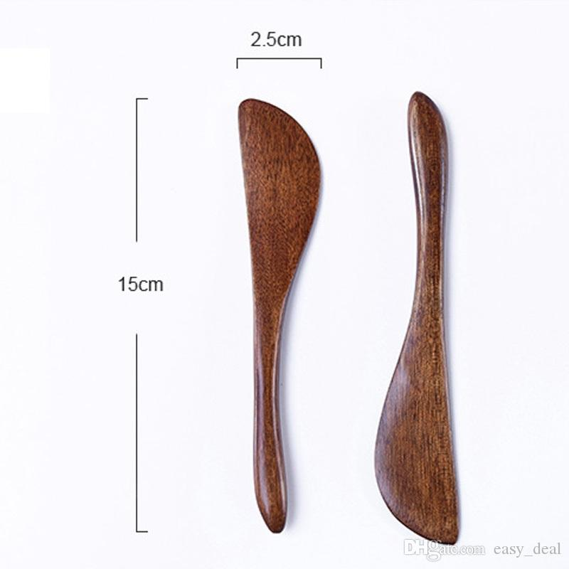 wooden cutlery knife wooden butter knife cheese jam spreader cake knives Bakeware LX0022