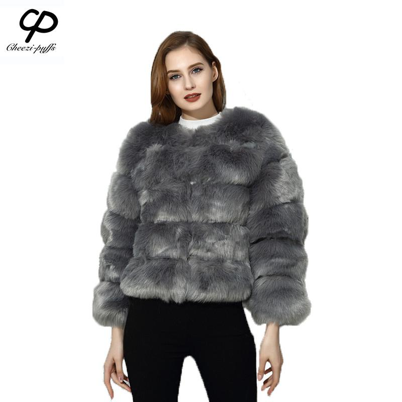 44ac9b721176d 2019 CP Brand Short Fur Coat Winter Fashion Women Faux Fox Fur Coats Furry  Cute Woman Fake Jacket Plus Size Coat Jacket From Alfreld