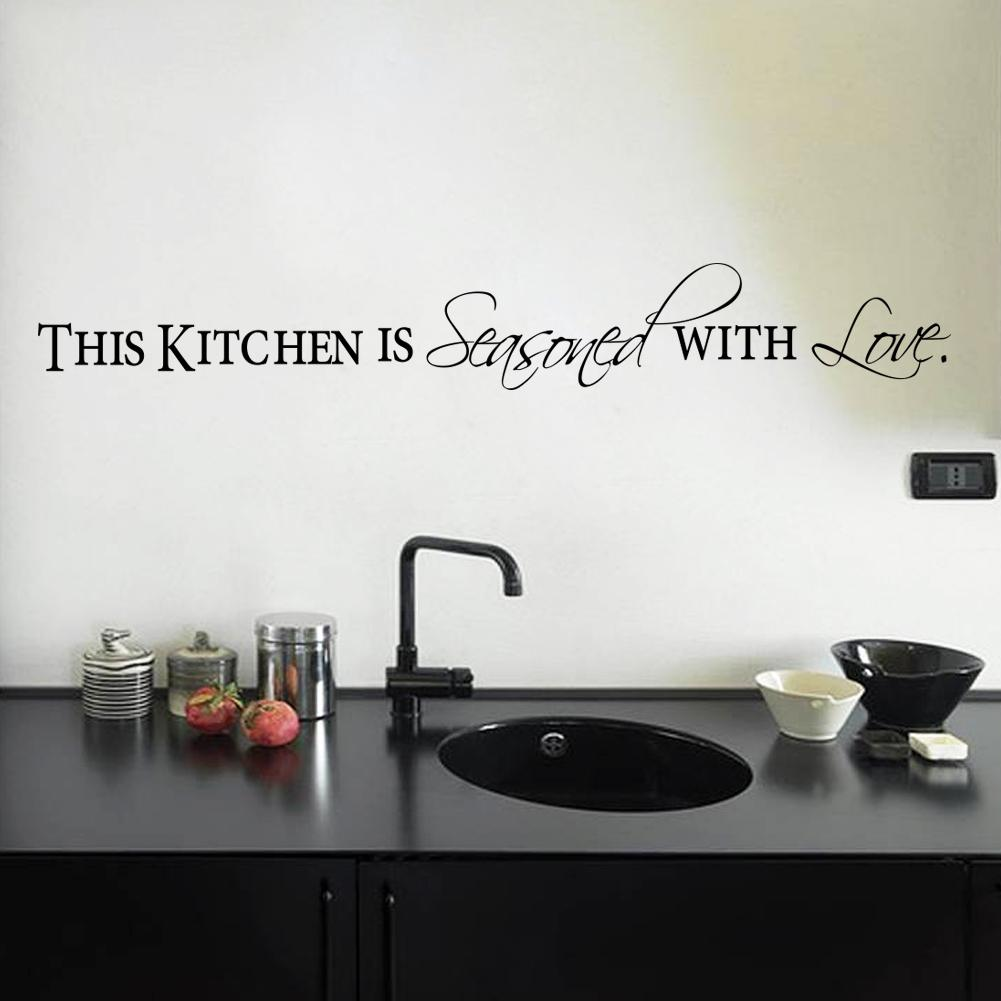 This Kitchen Is Seasoned With Love Quotes Wall Stickers For