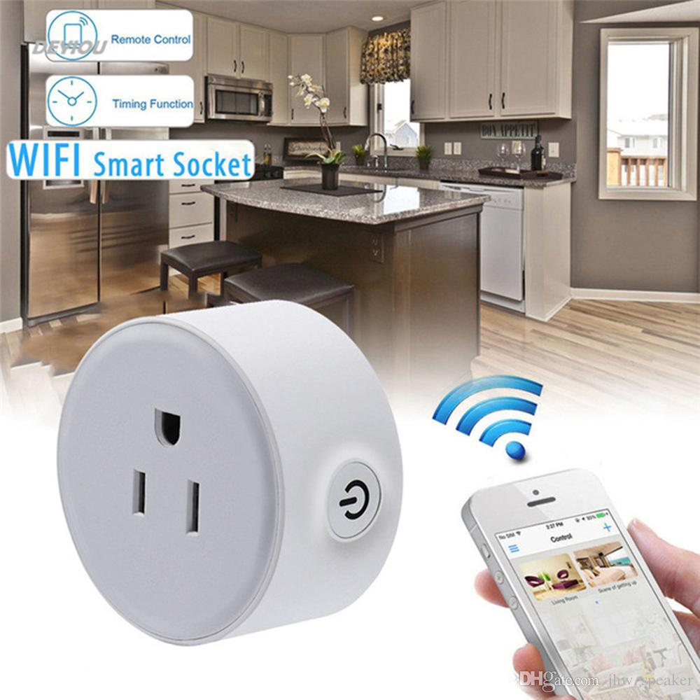 Smart Wifi Plug 2200W Wireless US WiFi Phone Remote Control Repeater Smart AC Plug Outlet Power Switch Socket Status Tracking Practica