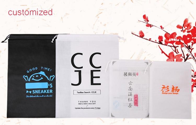 7x8 cm Não tecido roupas Saco De Armazenamento De poeira Embalagem para bolsa de Viagem De Armazenamento de artigos diversos Puxar corda Livre shipp