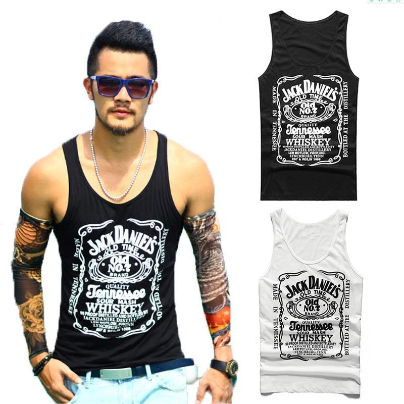 dbbf2ed1 2019 Men Fashion Vest Jack Daniels Whiskey Printing Black Tank Top Cute  Summer Tank For Men Genlteman Boys From Dindanone, $28.8 | DHgate.Com