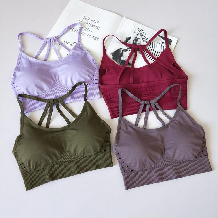 74e5dea204 Women s Sports Bras For Running With Removable Cups Push Up Yoga Bra ...