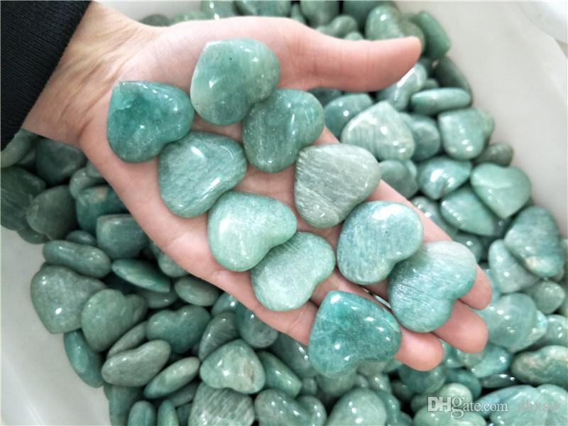 10 adet yeşil amazonit taş kalp kristal kalp Takı Yapımı amazonit kalp düğün dönüşü hediye ev dec kristal şifa