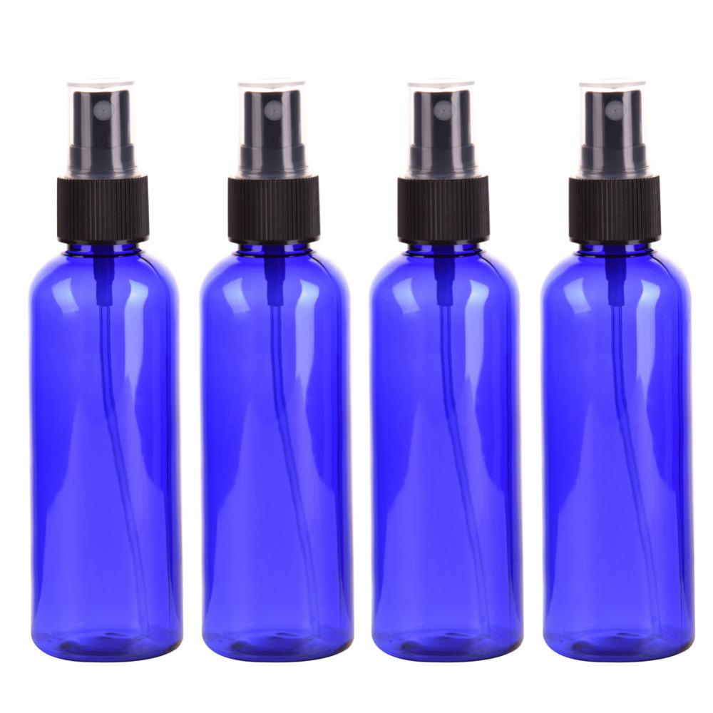 9294af071e19 4PC/set 100ml Blue Empty Spray Bottle Plastic Sprayer Bottles Perfume  Container Refillable Cosmetic Atomizer For Tarvel Gift