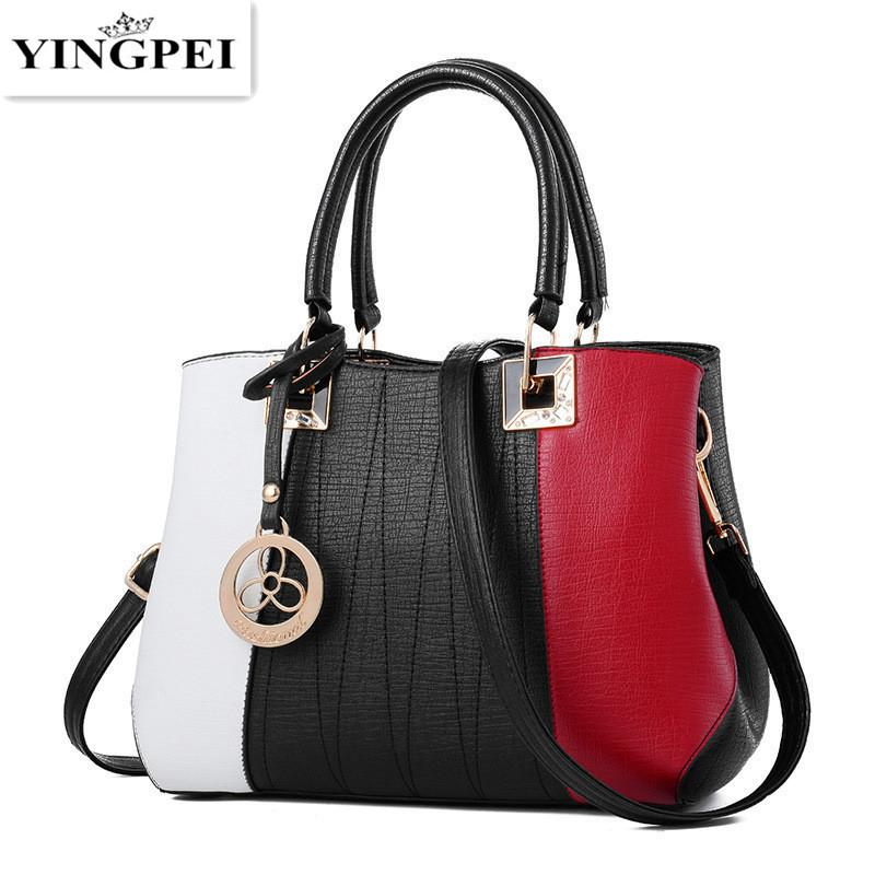 7f0a6d9d7733 YINGPEI Women Handbags High Quality Women Bag Fashion Patchwork Designer  Ladies Big PU Leather Lady Shoulder Bag Tote Gifts Y18102504