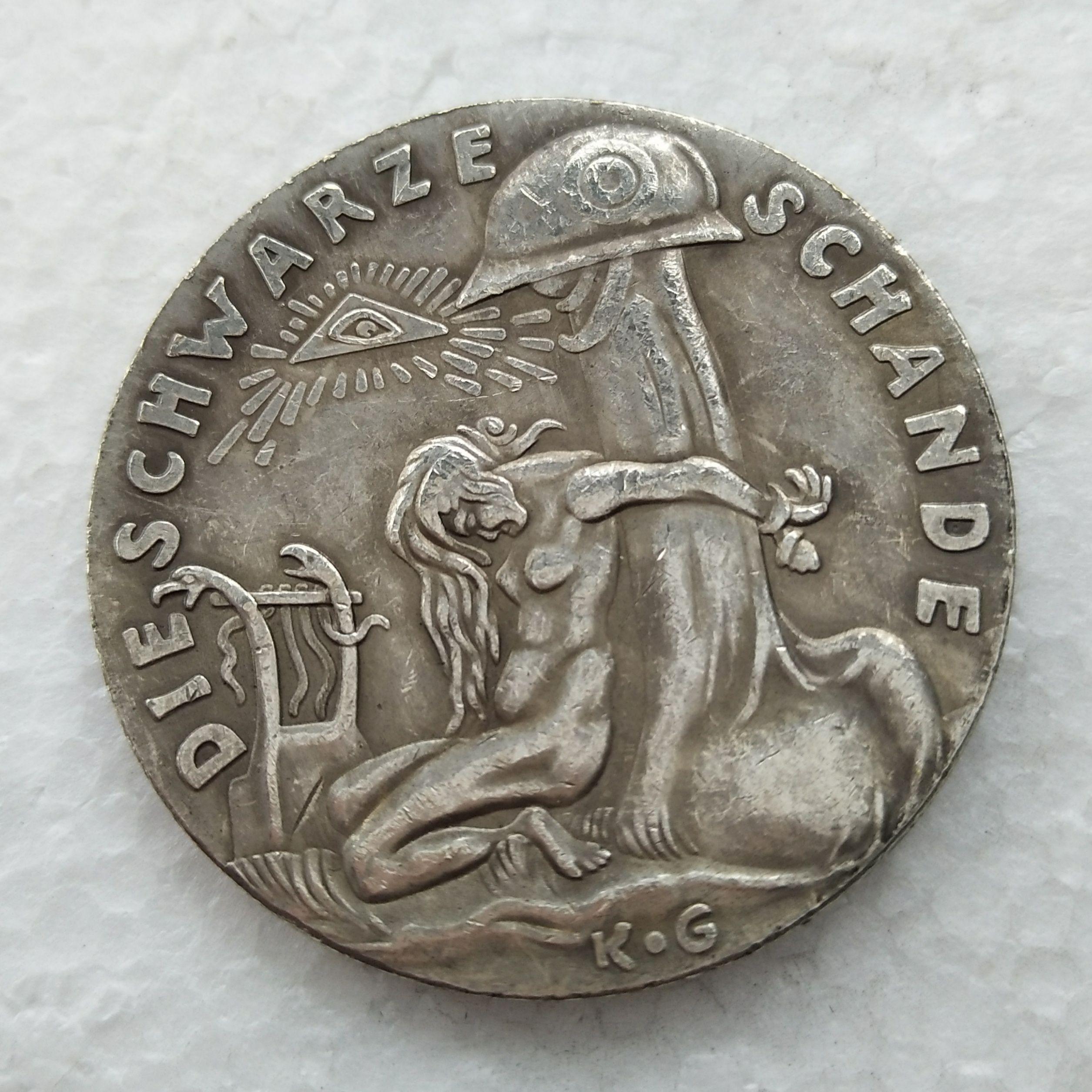 e1d8e15797814 Acquista Germania 1920 Moneta Commemorativa La Medaglia Nera Medaglia  D argento Rara Copia Coin Decorazione Domestica Accessori A  13.07 Dal  Rarecoins ...