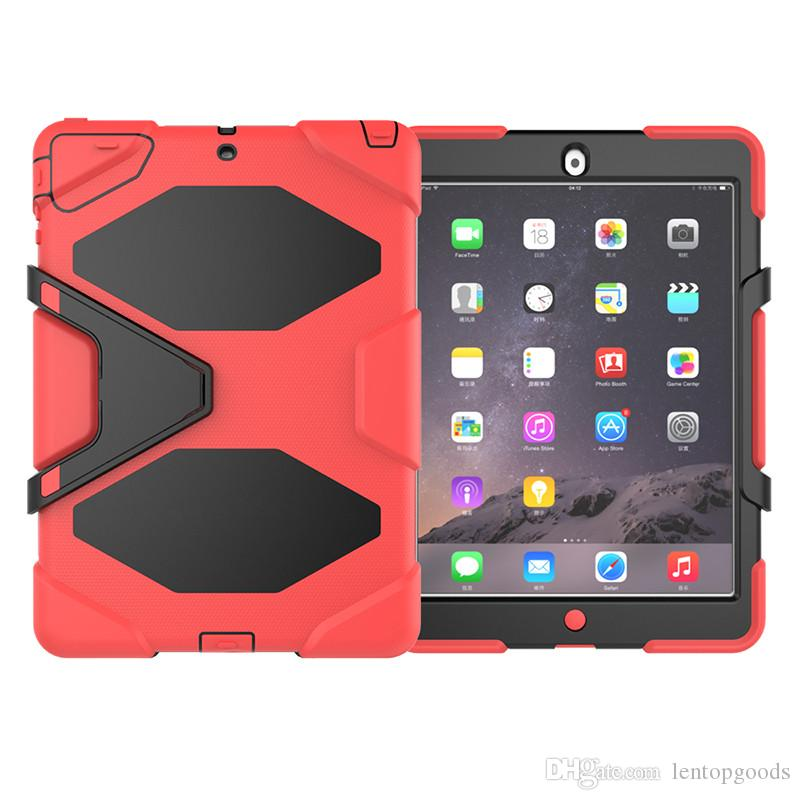 Hot 360 Case with Holder for Apple iPad Mini 1 Mini 2 Mini 3 Kids Safe Armor Shockproof Heavy Duty Silicon+PC Cover + Pen