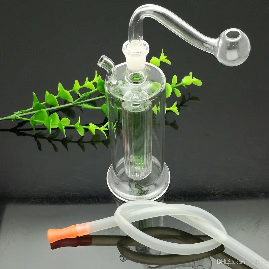 Mini long hookah filter Wholesale Glass bongs Oil Burner Pipes Water Pipe Oil Rigs Smoking, Oil.