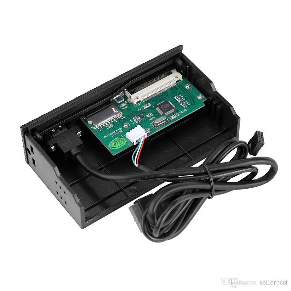 STW 3061 Leitor de Cartão de 5.25 polegadas Interno Painel Multi-Função Painel Frontal Porta USB3.0 CF XD MS M2 TF SD leitor de cartão inteligente Novo