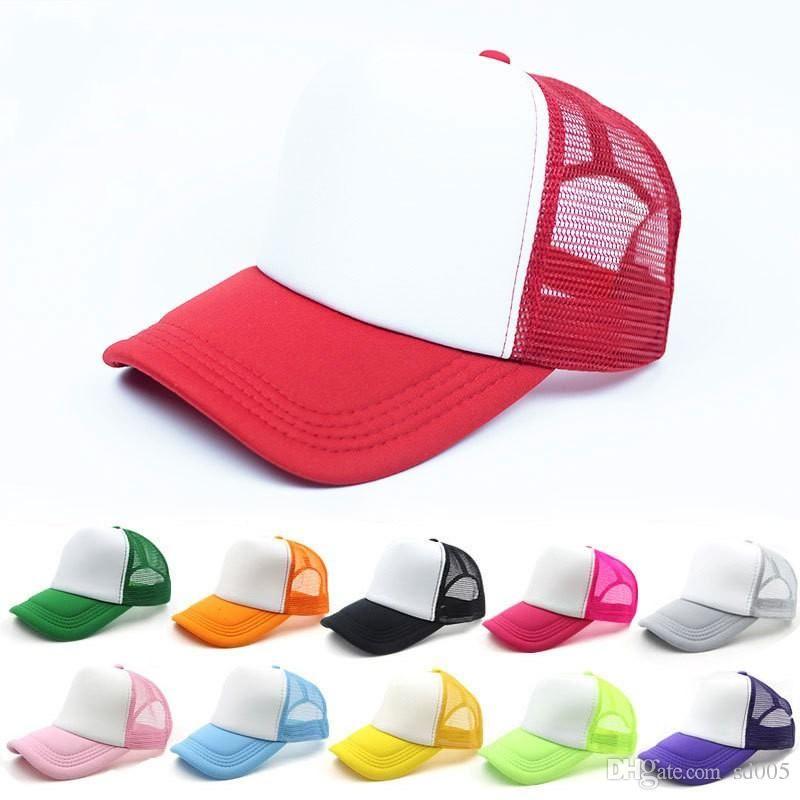 be97b638134 Colourful Visor Hat Creative Fashion Summer Kids Trucker Caps Children  Ponytail Snapbacks Ball Cap Multi Color High Quality Caps For Men Custom  Baseball ...