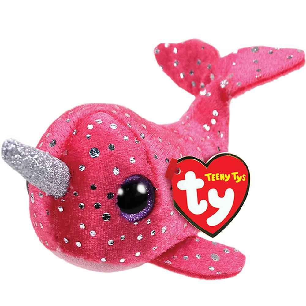 2019 Ty Teeny Tys 4 10cm Nelly The Narwhal Stackable Plush Small