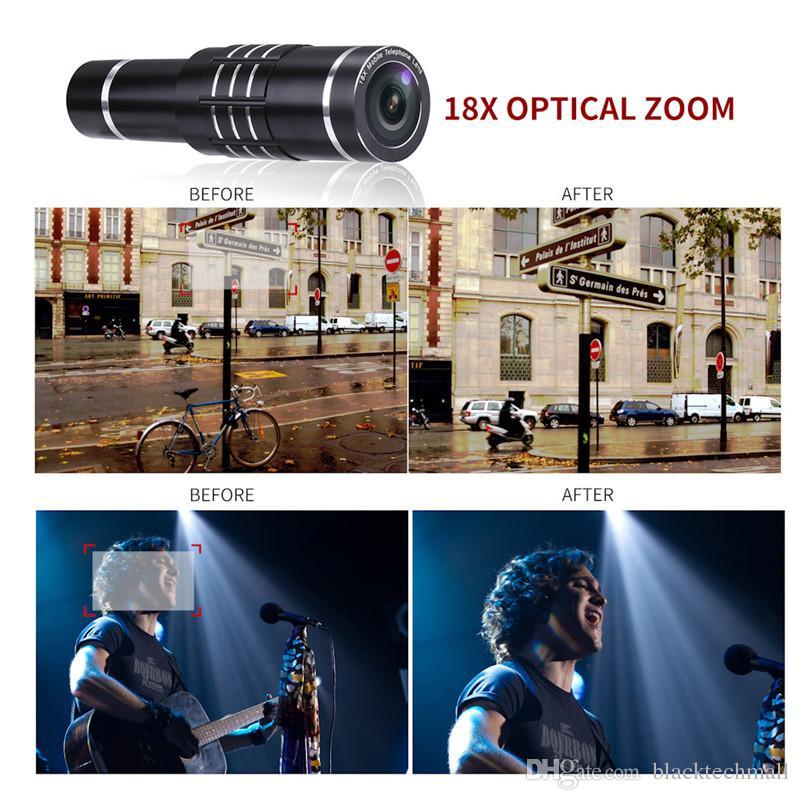 Universal 18X Telescope Optical Zoom Mobile Phone Lens for iPhone for Samsung XIAOMI Smartphones clip Telefon Camera Lens