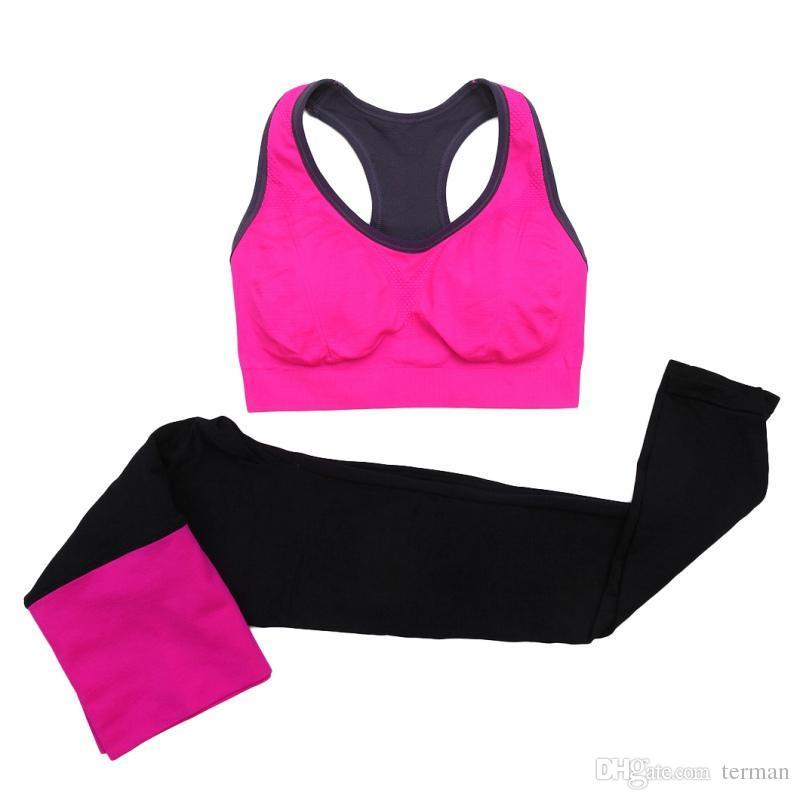 beeeb0921a9051 Women Yoga Sets Running Sports Set Fitness Gym Push Up Seamless Bras ...