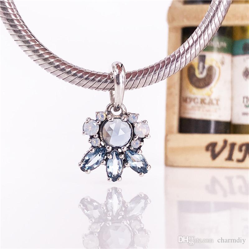 Frost Kolye desenleri Çok Renkli Kristal Charm DIY Bilezik Için Uygun Orijinal 100% 925 Ayar Gümüş boncuk Toptan 390391NMBMX