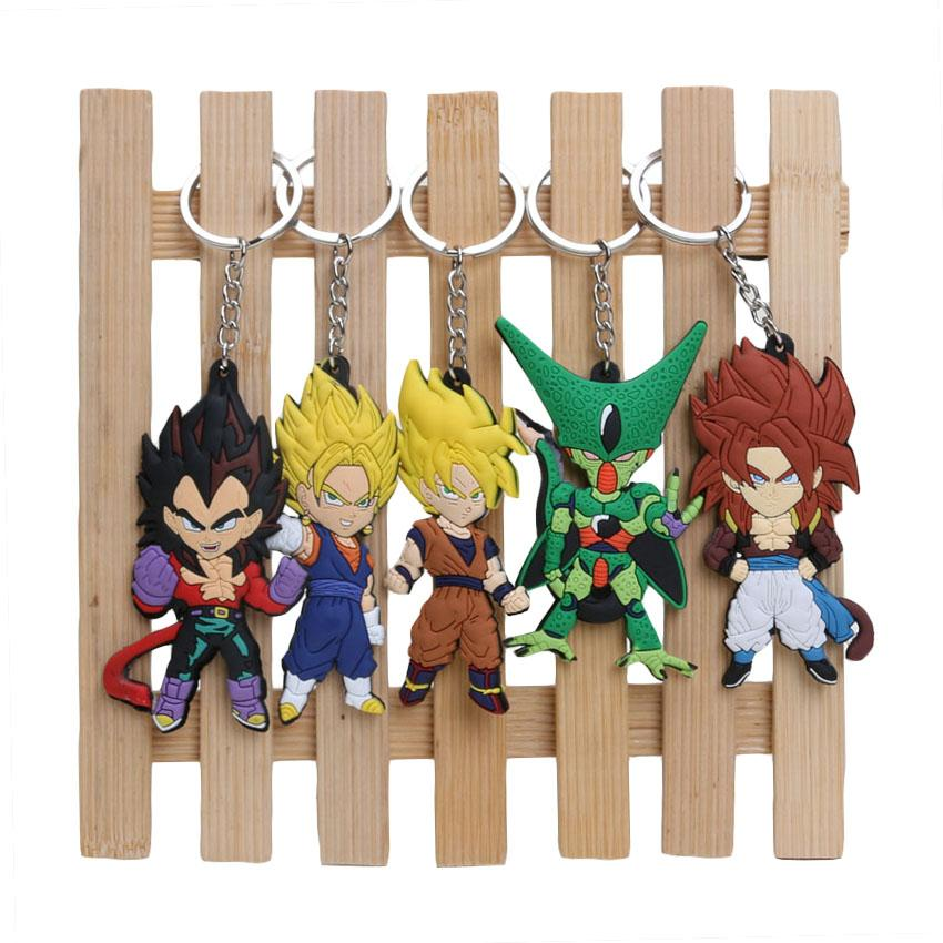 2018 Dragon Ball Z Super Saiyan Son Gokou Vegeta Keychains Soft Pvc Figure Toys In Opp Bag From Guoli0005 827