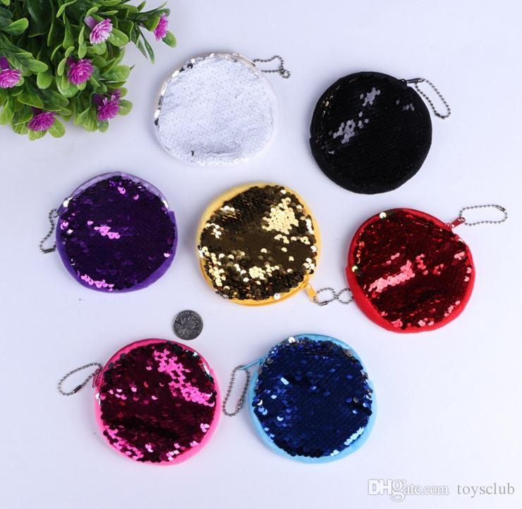 9 Renkler 10 cm Çocuklar Pullu Mermaid Sikke çanta Mermaid Glitter Çanta Akşam Cüzdan kadın Kılıfı Chirstmas Hediyeler