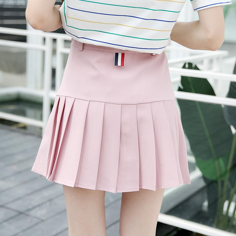 815bcbdcd5 2019 Women Pleated Skirts 2018 Summer Fashion College Preppy Style A Line Skirt  Mini Japanese School Skater Skirt For Female Pink From Yoursuger, ...