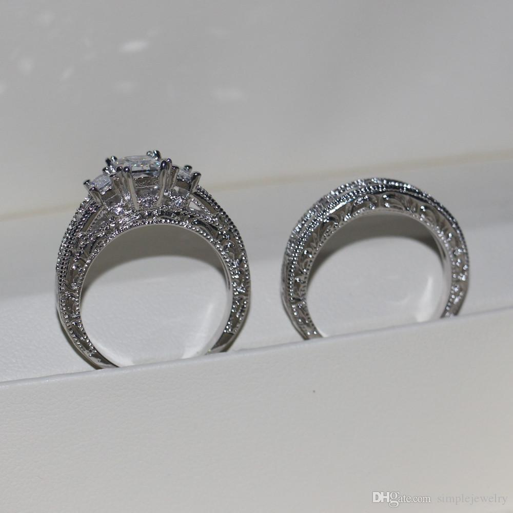 choucongNew Vintage Women Men Jewelry ring Princess cut 3ct Diamond 925 Sterling silver Engagement Wedding Band Ring Gift