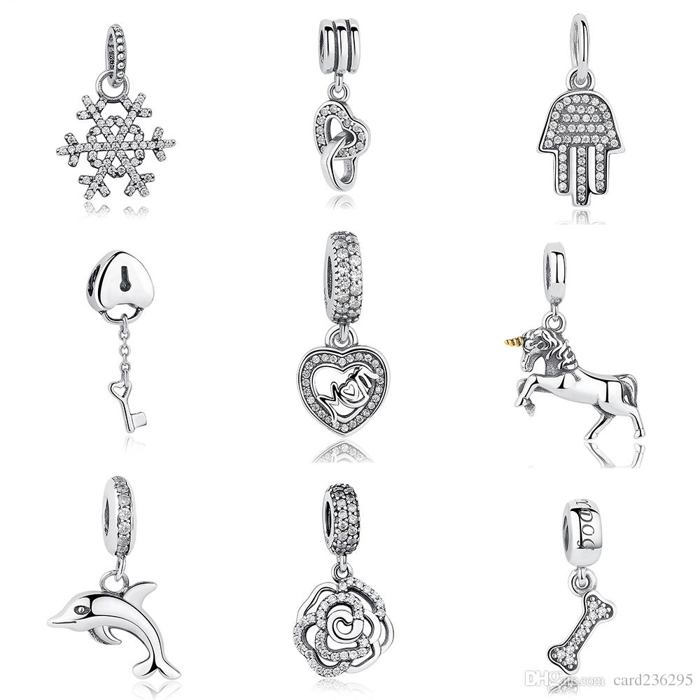 Orijinal Charms Anne Aşk Dangle pandora charms 925 ale Gümüş Gevşek Boncuk Diy Takı Konu Kolye Bilezik anneler Günü Için