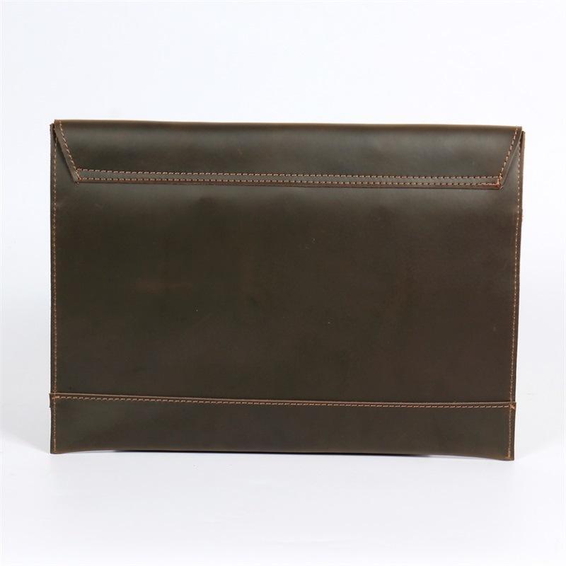 Bolsa delgada Bolsa de papel de cuero genuino Negocio Maletín Archivo de datos Colección de oficina Cartera de negociación de conferencias Maleta