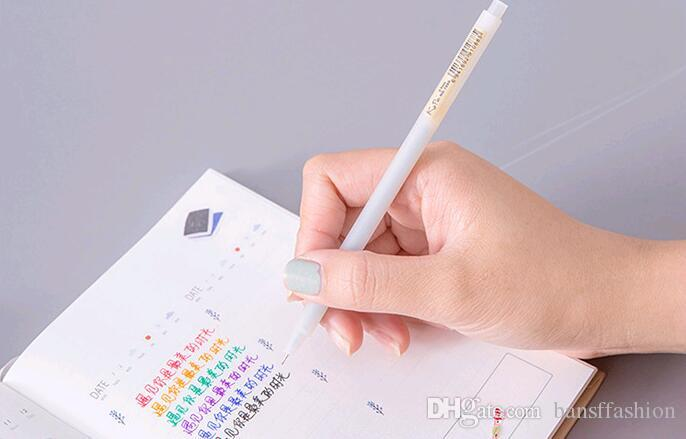Wholesale Factory Sell Simple Wind Transparent And Frosted Water Color 0.5mm Gel Ink Pen 16cm GP072