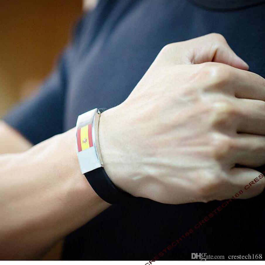 Deutschland flagge edelstahl 9 länder nationalflagge silikon armband 2018 weltcup charme geschenke jubel brasilien deutschland