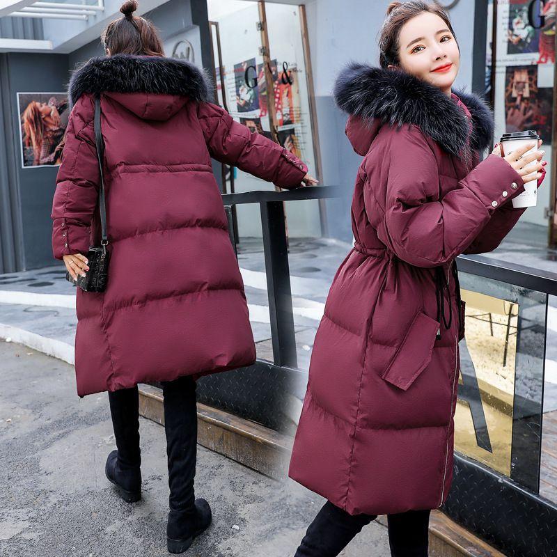 best service f39fb c3cb3 Koreanische Mode Winterjacke Frauen Parka Europa 2018 Neue Büro Dame Plus  Size Pelzkragen Baumwolle Verdickt Schwarz Gepolsterte Jacke