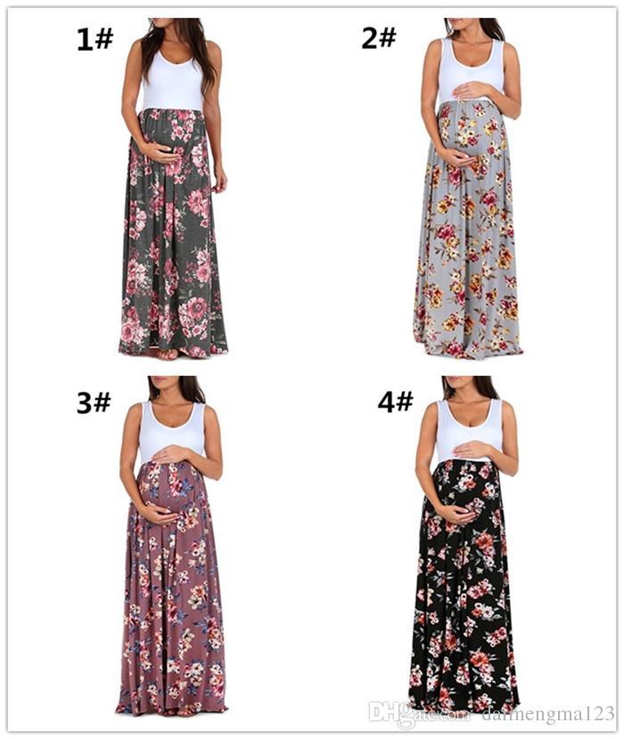93f99fd27 Compre Embarazada Impresa Vestido Maternidad Fotografía Fuera Del Hombro Vestido  Mujeres Embarazo Vestido Largo M294 A  11.06 Del Daimengma123