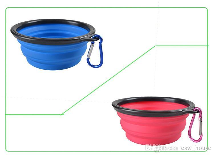 Творческий портативный собака чаша собака кошка Pet путешествия чаша силиконовые складной подачи воды блюдо Фидер портативный воды чаша для домашних животных