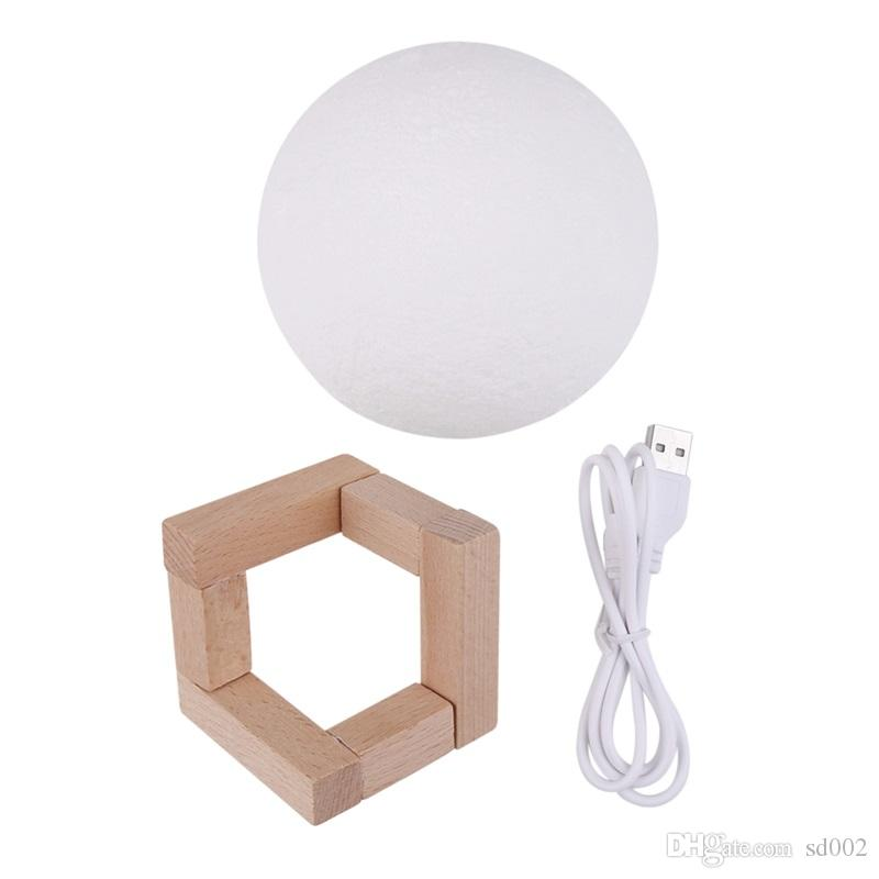 USB Charging Night 8-20CM Light Bedroom Decor Touch Control 3D Moon Lamp Arts And Crafts Gift 110ak8 C R