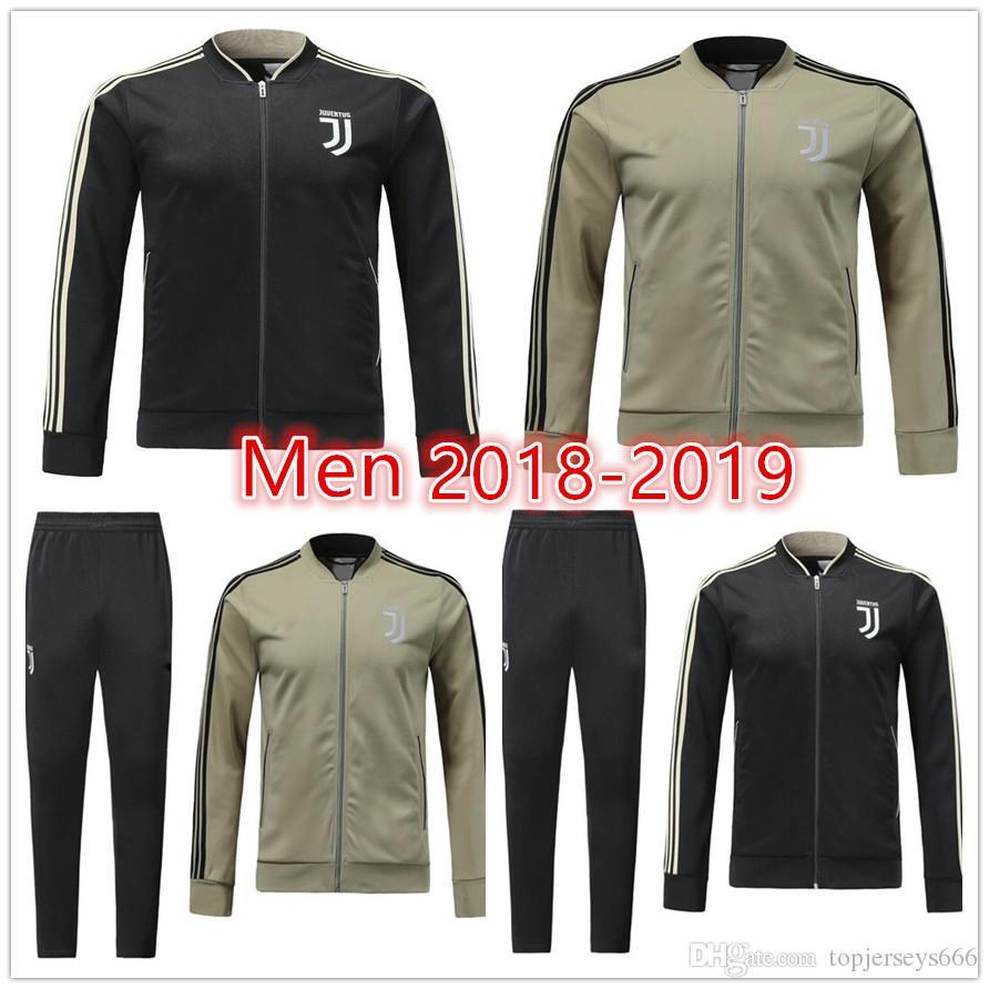 Acheter Nouveau Juventus Soccer Veste Kit 2018 2019 Hommes Jupes Survêtement  DYBALA HIGUAIN MANDZUKIC MATUIDI BUFFON Entraînement De Football Zip Veste  S XL ... 1598efa1d41