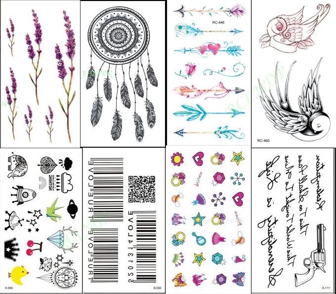 Acheter Sticker Tatouage Temporaire Impermeable Lavande