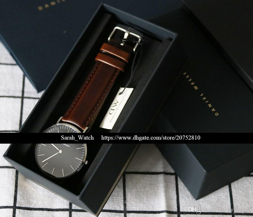 Best Quality 36mm & 40mm Men Women Watch White / Black FACE Leather / Nylon / Metal STRAP Watch In same link