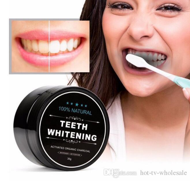 2018 горячие продажи все природные и органические активированный уголь отбеливание зубов зубов зубов и десен порошок всего зубов белки 30 г