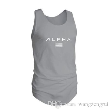 576d4afea07c4 2019 Men Bodybuilding Letter Printed Tank Top Vest 2018 New Male Gyms  Fitness Workout Sleeveless T Shirt Man Jogger Crossfit Tee Clothing From  Wangzengrui