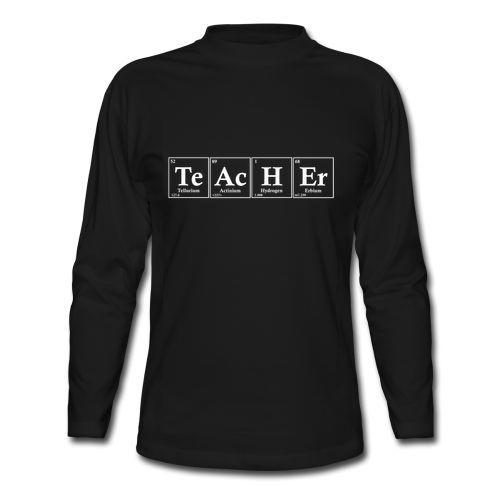 Periodic Table Science Geek Teacher Appreciation Long Sleeve Black T