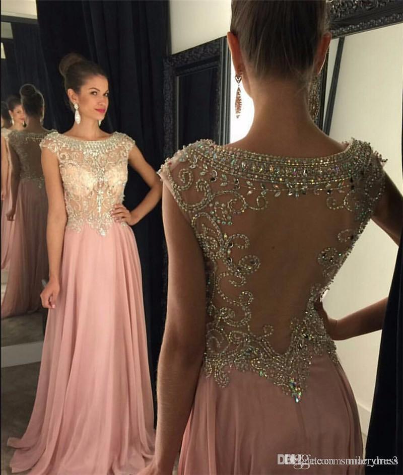 43352152bb7 Plus Size Formal Dresses Pink Chiffon Beaded Dresses Fast Shipping ...