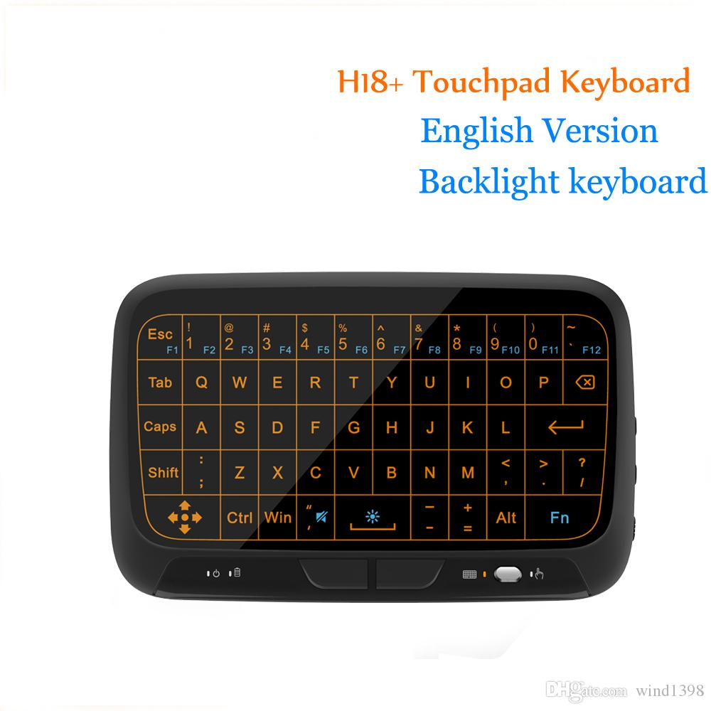 Mini H18 H18+ Wireless Keyboard 2.4 G Portable Keyboard With Touchpad Mouse for Windows Android/Google/Smart TV Linux Windows Mac