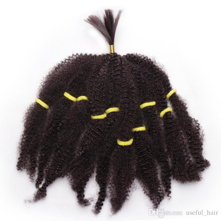 NEW ARRIVAL Mongolian afro kinky curly hair bundles bulks synthetic hair extensions short blonde 10inch braided twist hair for black women