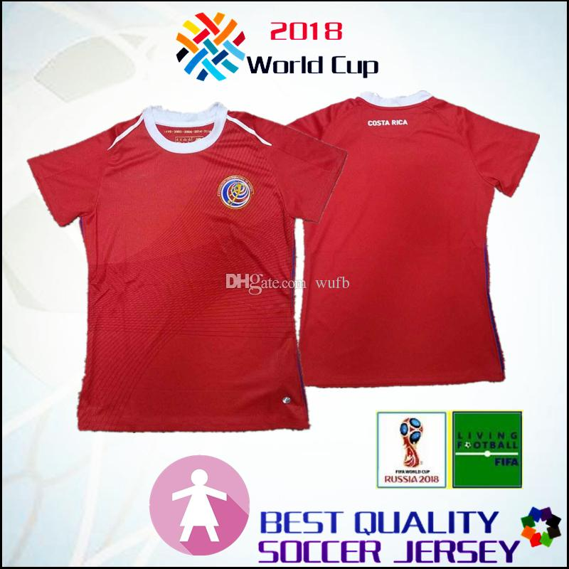 the best attitude 721ab e1f13 World Cup 2018 2019 Costa Rica home Soccer Jerseys women BRYAN H.WASTON  C.BORGES M.URENA 18 19 Costa Rica National Team Football Shirts