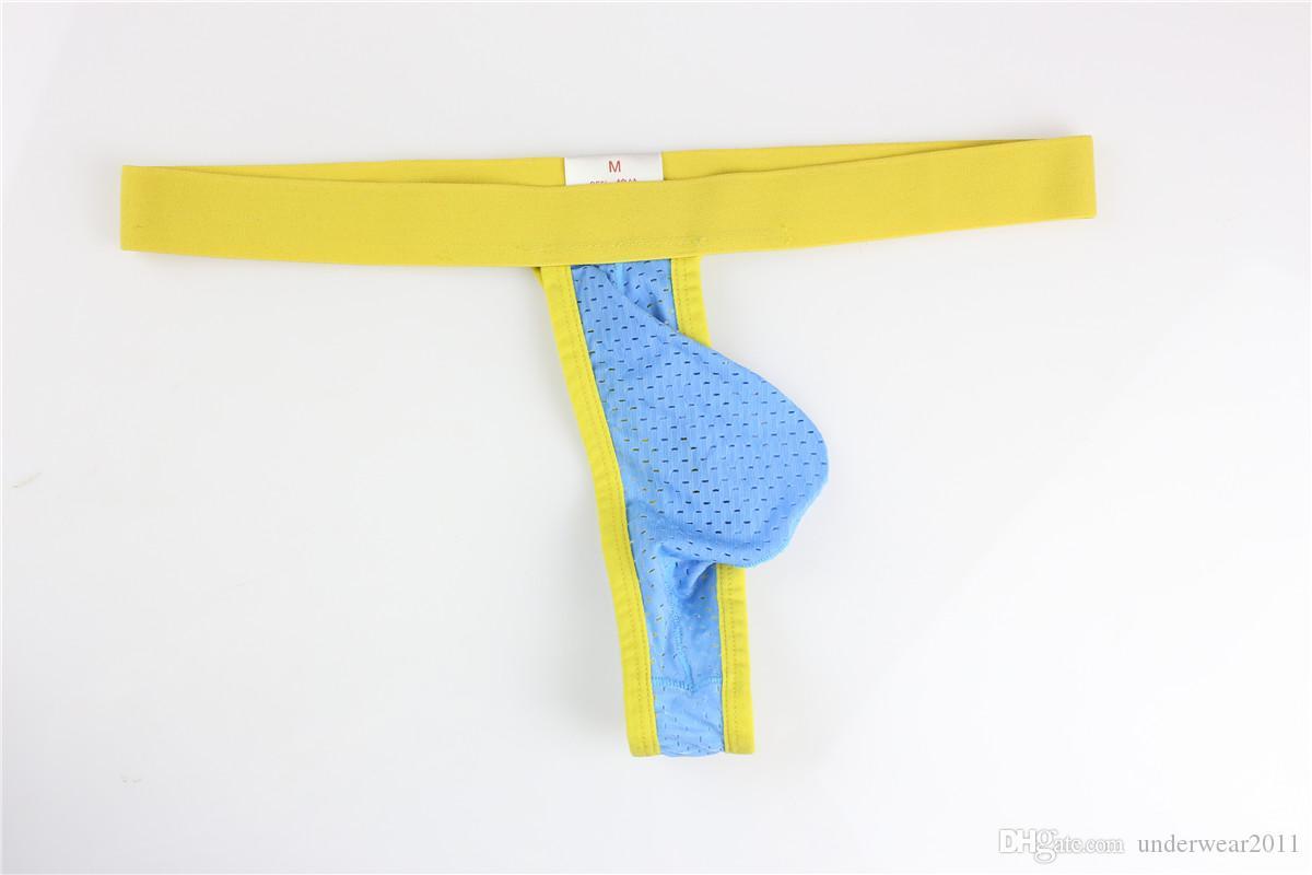 En gros AOQIANG09 Mens G Cordes Mans Ice Soie Sexy Thongs Mens Sous-Vêtements vendeur Livraison Gratuite