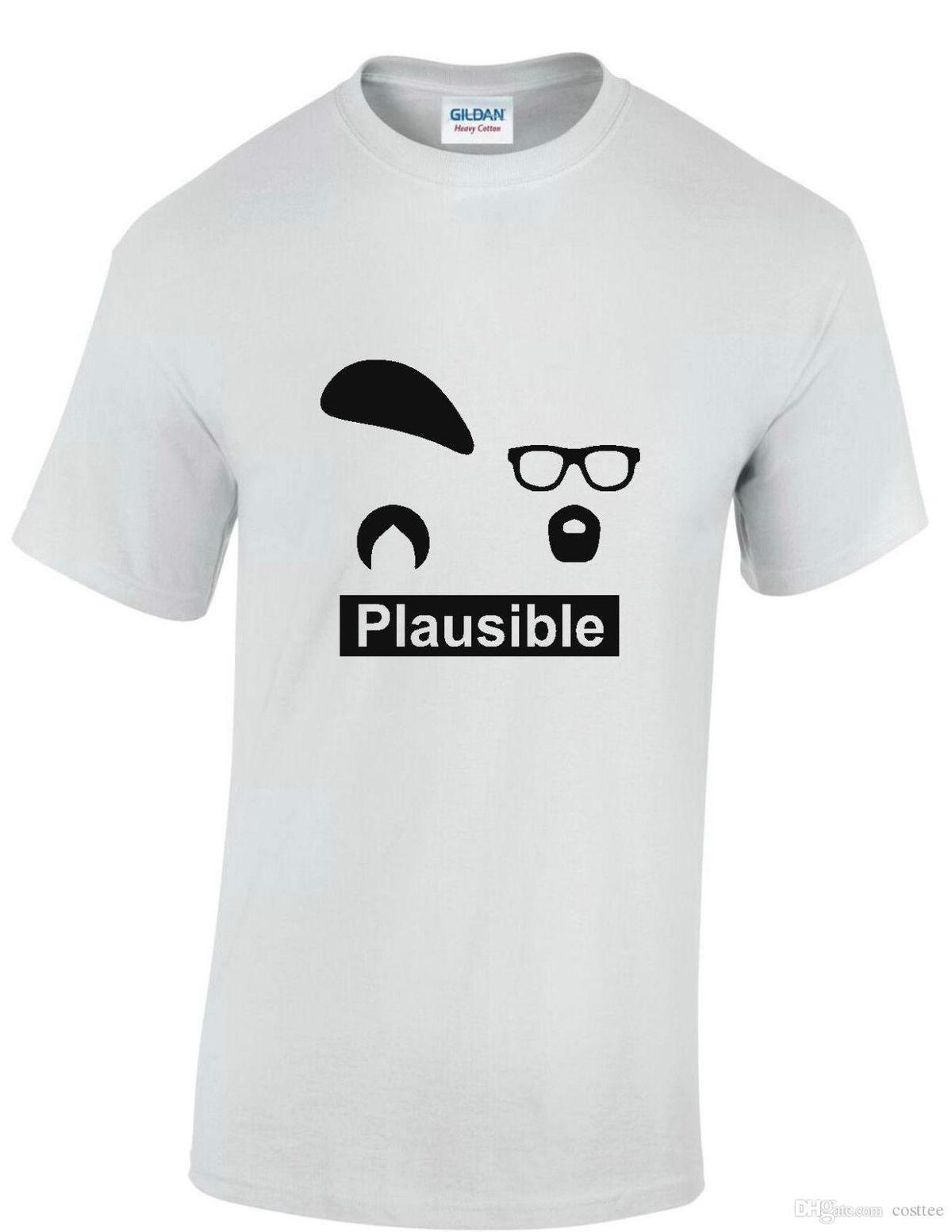 Mythbusters plausible Jamie Hyneman Adam Savage TV US sm to xxxl mens  T-shirt