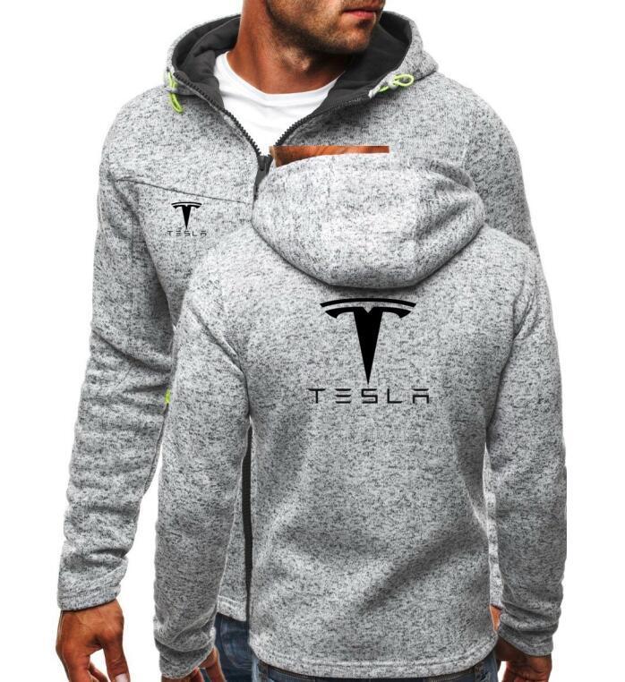 98634afb914 Acheter Marque Tesla Imprimer À Capuche Streetwear Hip Hop Zipper Cardigan  Veste À Capuche À Capuche Hommes Hoodies Automne Hiver Sweat Shirts De   48.42 Du ...