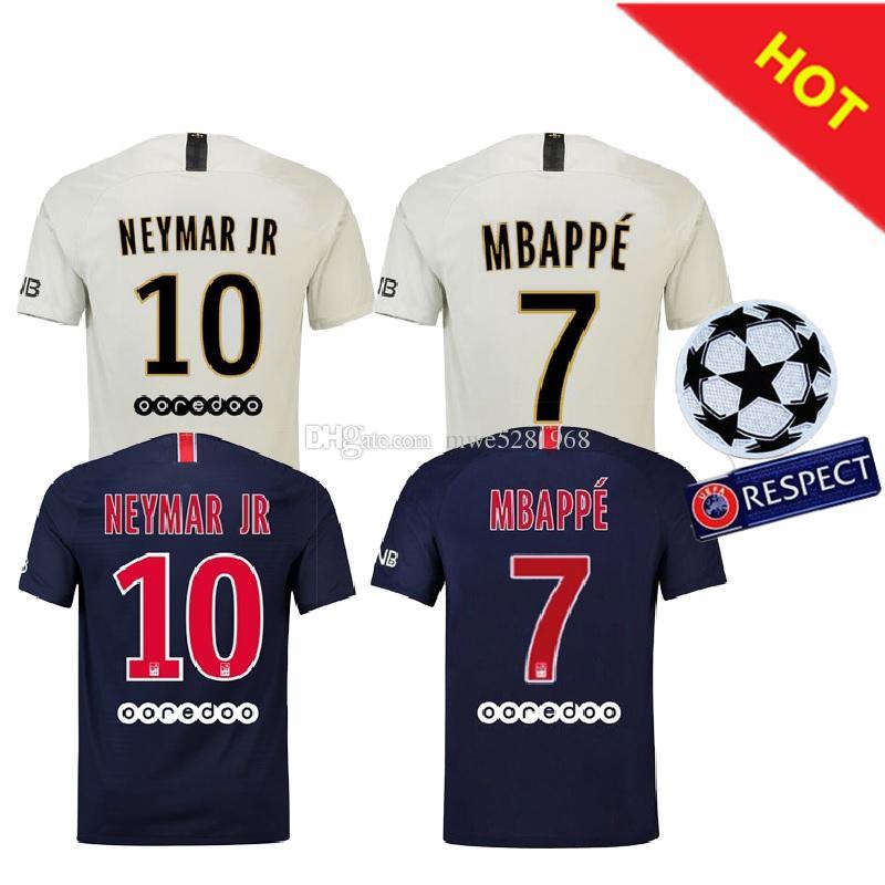 2018 2019 PSG Third Maillot MBAPPE Soccer Jersey CAVANI VERRATTI Top ... e28763cd5