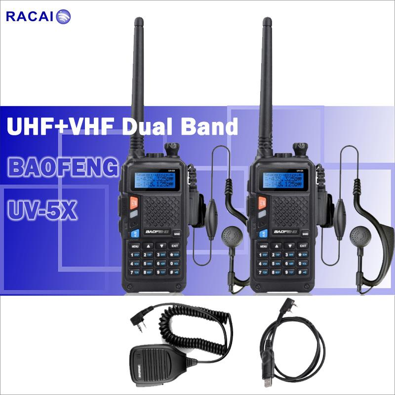 5X BaoFeng R760 136-174/400-520MHz Dual-Band DCS CTCSS FM 2 Way Radio  Waterproof Walkie Talkie 5X Headset Programming Cable
