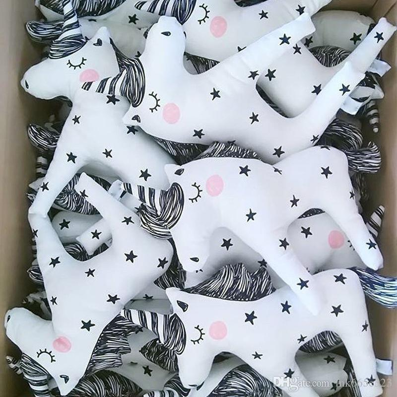 Cute Plush Unicorn Horn Sleep Pillow Stuffed Animal Gerbil Plush Toy Unicorn Boy Girl Gift Four Colors
