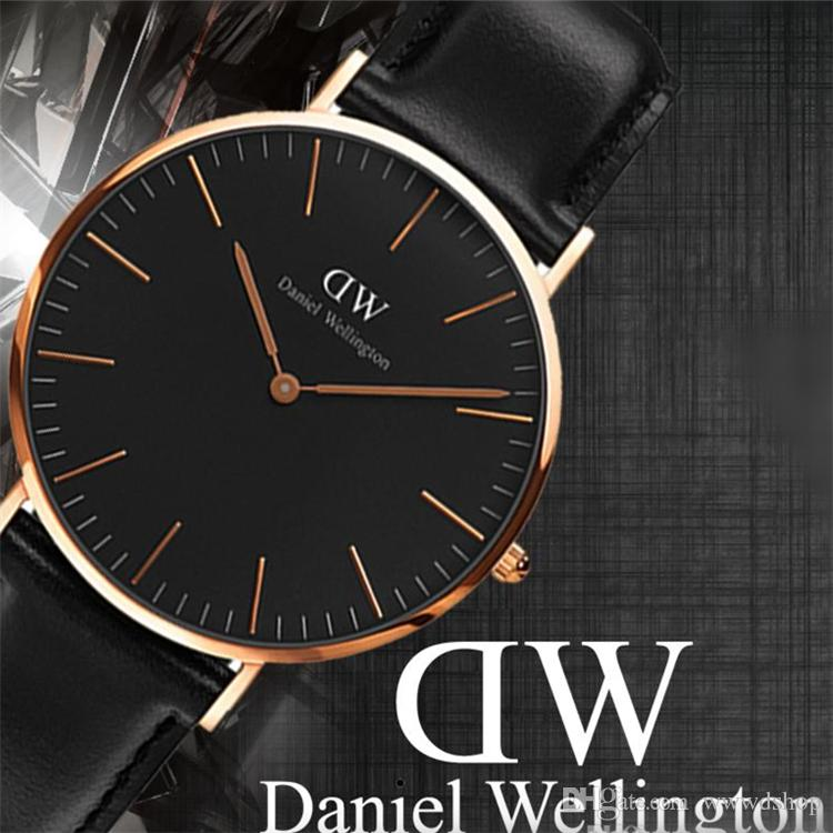 f168f0ce930b7 High Quality Quartz Watches Classic Model 40MM Men Leather Watch ...